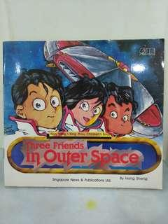 Three friends in outer space by hong sheng