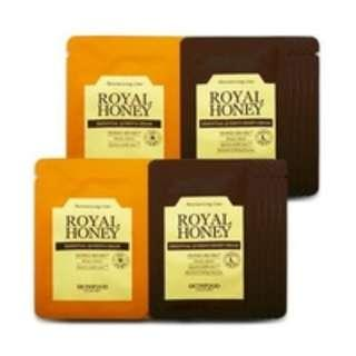 #midsep50 FREE SHIPPING SKINFOOD ROYAL HONEY ESSENTIAL QUEEN'S CREAM & NIGHT CREAM X 1 SACHET