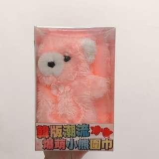 全新 韓版潮流爆萌小熊圍巾