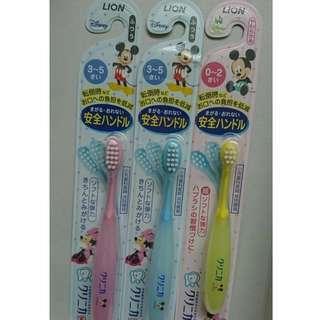 LION 迪士尼  可彎軟身  兒童學習牙刷