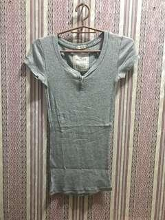 Hollister Stretch Gray Top