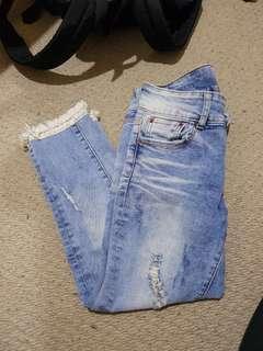 Cute ankle grazer jeans