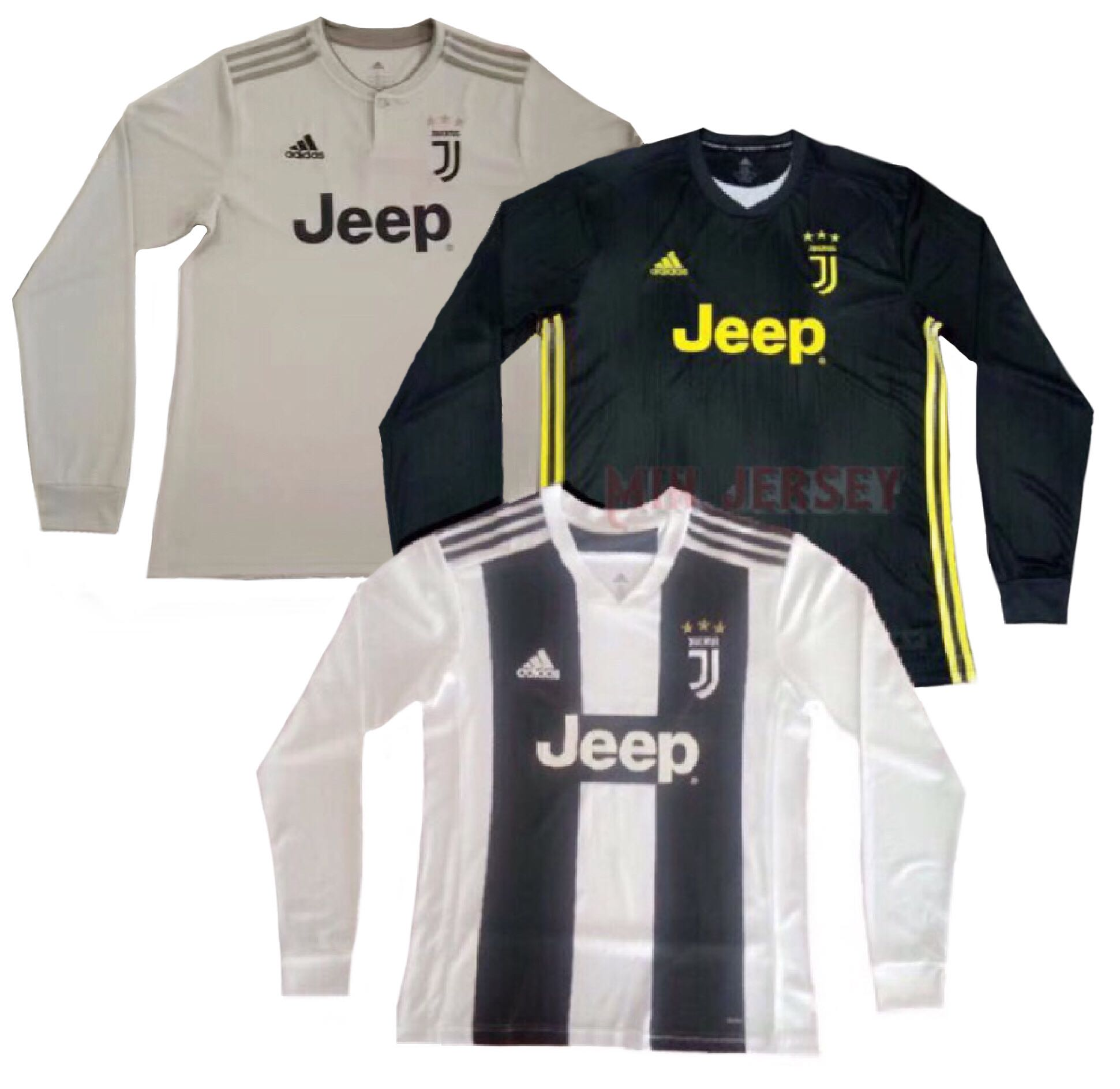 the best attitude 67671 75f4b 18/19 Juventus Long Sleeve kits