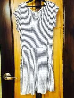 H&M Basic Striped Casual Dress