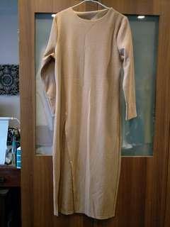 Nude Dress/Side slit