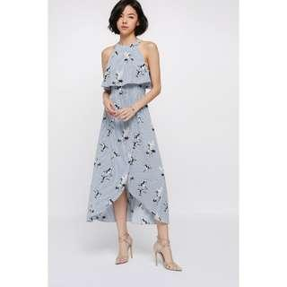 Love Bonito Monae Printed Layer Midi Dress