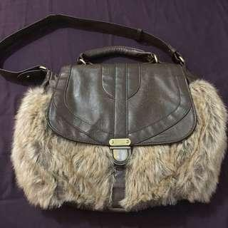 Brown furry bag