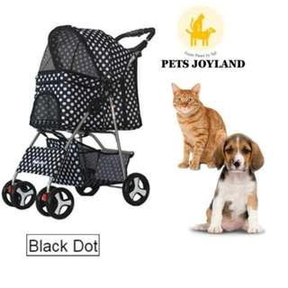 [FREE DELIVERY] Pet Stroller for Cats/Rabbits/Dogs Pram Trolley