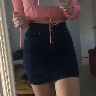 Fitted Denium Skirt