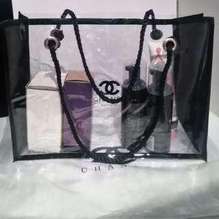Chanel VIP Large Clear Cosmetic Bag