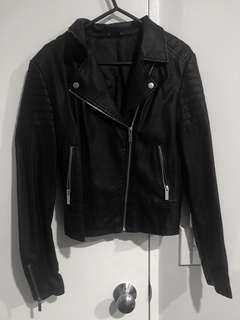 Leather jacket-size 10
