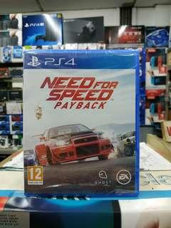🆕 PS4 Need For Speed Payback