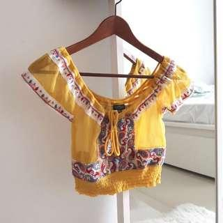 Topshop Yellow Top (Include Pos)