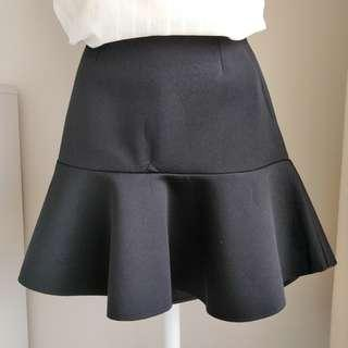 Country Road Black Ruffle Skirt - Size XS