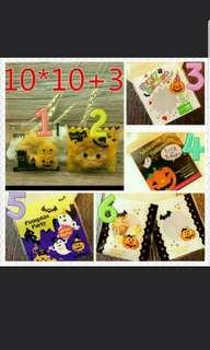 🎃 20 pcs Halloween Cookie Bag / Goodies Bag