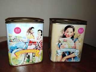Shanghai girl  empty Tea metal Tin Boxes
