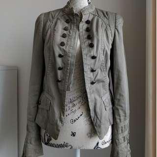 Zara Khaki Jacket - Size M