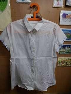 G2000 短袖白恤衫