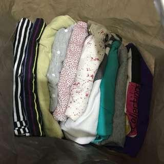 A bag of woman clothes
