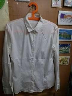 G2000 長袖白恤衫