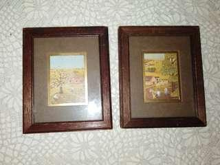 2 small picture frame (9.5 x11. 5cm)