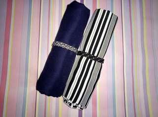 Pashmina navy&stripe