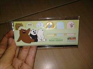 We Bare Bears Sticky Notes Bookmark Green