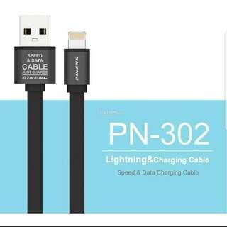 1 meter PINENG PN 302 Lightning USB Cable for iPhone Charge