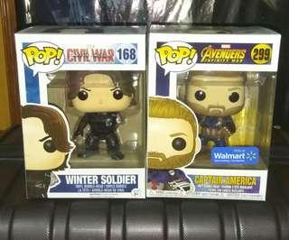 [PRE-ORDER] Captain America & Winter Soldier No Arm Marvel Funko Pop Bundle
