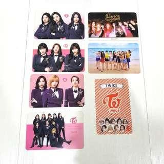 Twice Group/Unit Transparent Cards