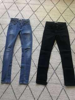 Acne Studios Jeans both size 26 Hex & Flex Icon great condition