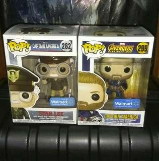 (ON HAND) Captain America & Stan Lee Army General Marvel Funko Pop
