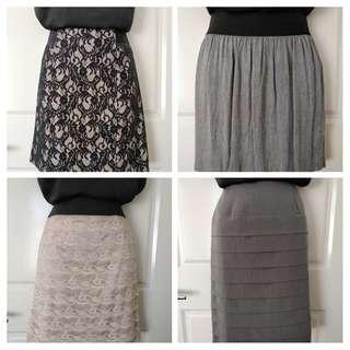 Work Skirt Bundle (4 items) - Size 8 & 10