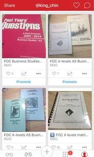 FREE FOC A levels business studies and math past year questions #MidSep50