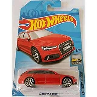 Hotwheels 2018 Factory Fresh '17 Audi RS 6 Avant Rare