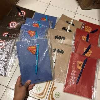 [SPECIAL SET] SUPERHERO NOTEBOOK (A5 Size) WITH MECHANICAL PENCILS