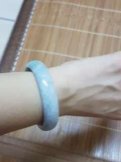 🚚 緬甸a級紫玉鐲  厚版 手圍16.7   007