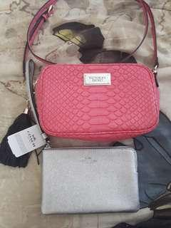 BUNDLE brandnew Coin purse and preloved Victoria secret