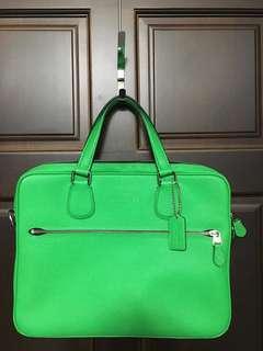 螢光綠Coach公事包