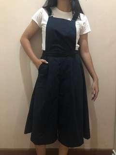 (JUAL RUGI) OVERALL CULLOTE NAVY BLUE