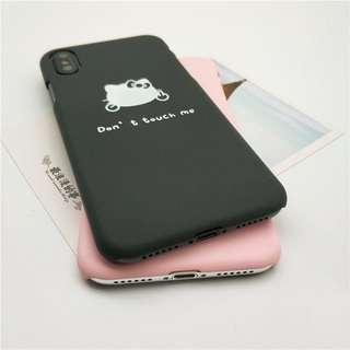 Don't Touch Me iPhone Case (Black)