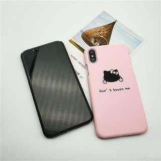Don't Touch Me iPhone Case (Pink)