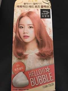 Mise en Scene Bubble Rose Gold Foam Hair Colour Dye