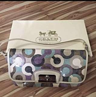 Coach Violet Purple Wristlet / Pouch / Bag / Handbag / Clutch