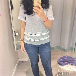 H&M tassel knit top