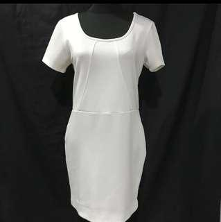 Authentic Forever 21 White Stretch Dress