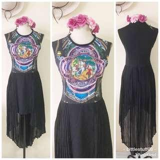 D&G Inspired hi low dress