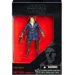 "MISB Star Wars Black Series 3.75"" Han Solo Hasbro Action Figure"