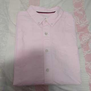 99% new pink long sleeve shirt wore once izzue