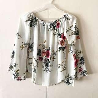 Floral Bell-Sleeved Blouse